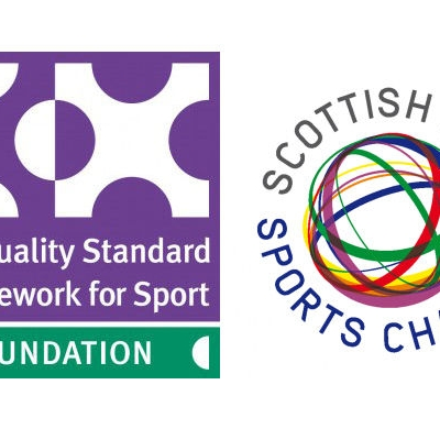 Equality in Sport logo and Scottish LGBT Charter logo