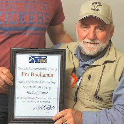 Jim with his Hall of Fame certificate