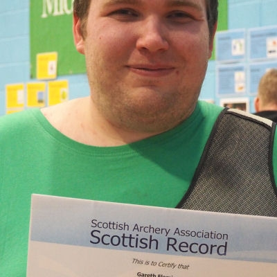 Gareth with one of his many record certificates