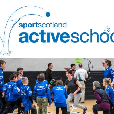 activeschools logo with archery