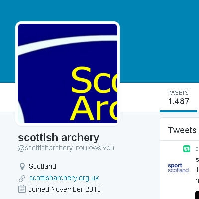 Scottish Archery twitter screen grab