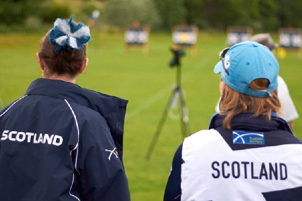Senior archers at a performance events