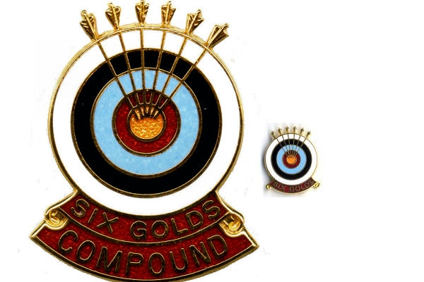 An Archery GB Six Gold End badge