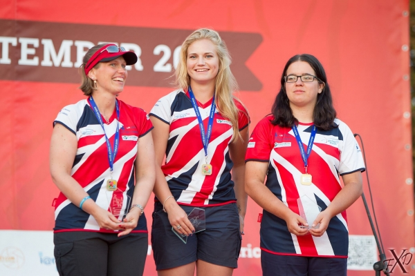 GB Ladies Team Bronze Podium