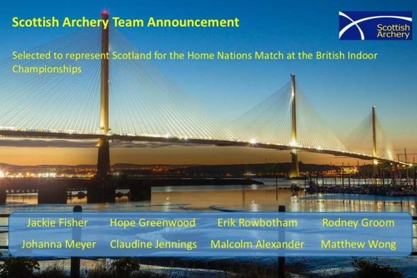 SCOTLAND TEAM ANNOUNCEMENT