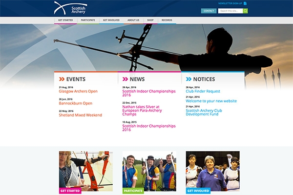 Scottish Archery New Website