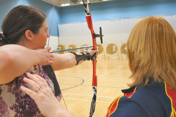 Coaching an archer