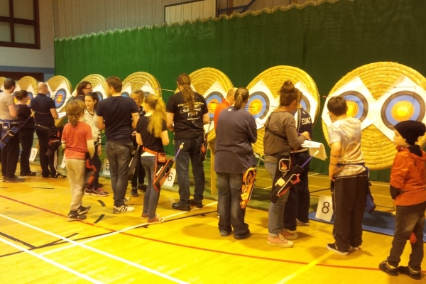 Junior Archers at an Indoor Competition