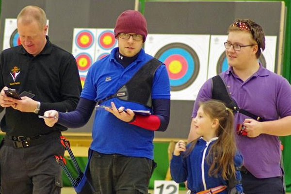 archers enjoying shooting at at club